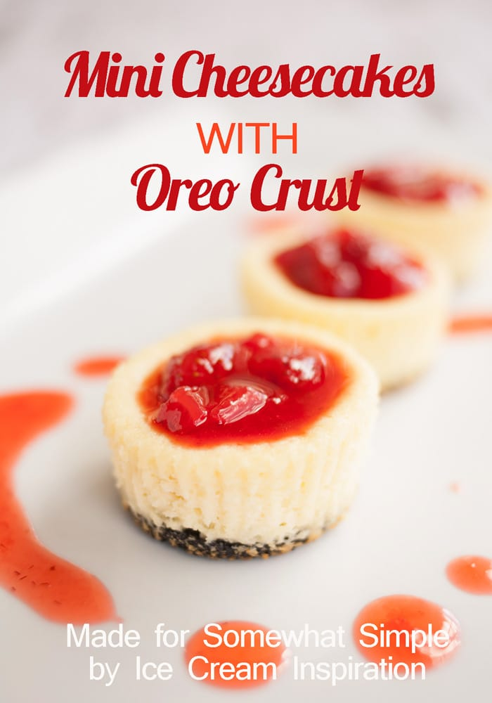 Mini Cheesecakes With Oreo Crust Somewhat Simple