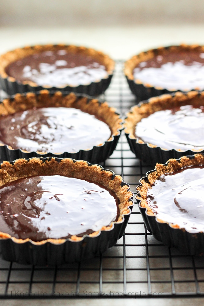 chocolate filled mini tarts