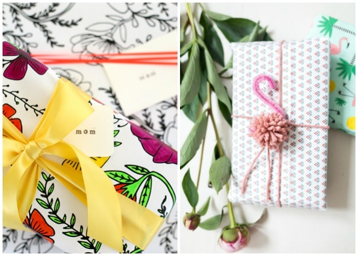 easy summer gift wrap
