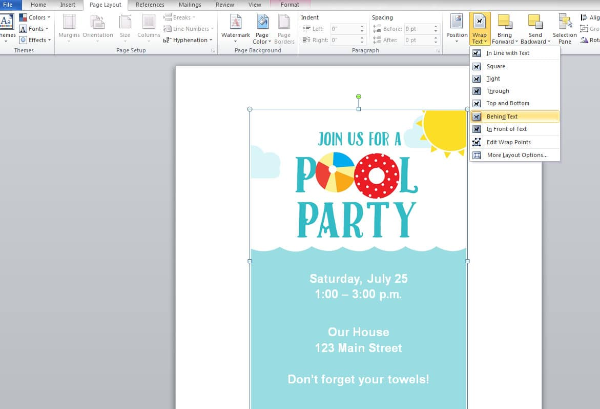 free summer party invitations somewhat simple