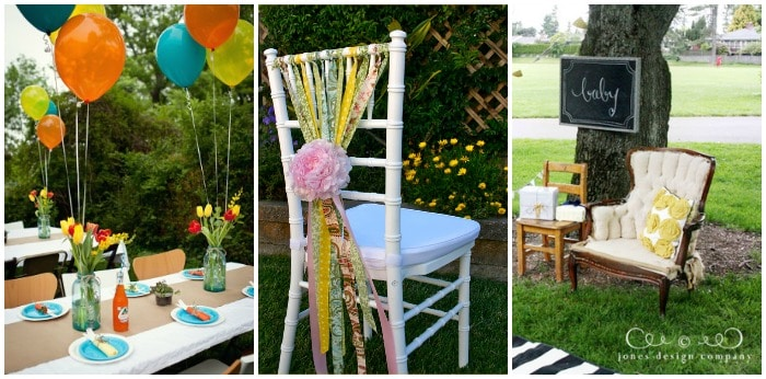 outdoor baby shower decorating ideas for a shower at a park or in your backyard