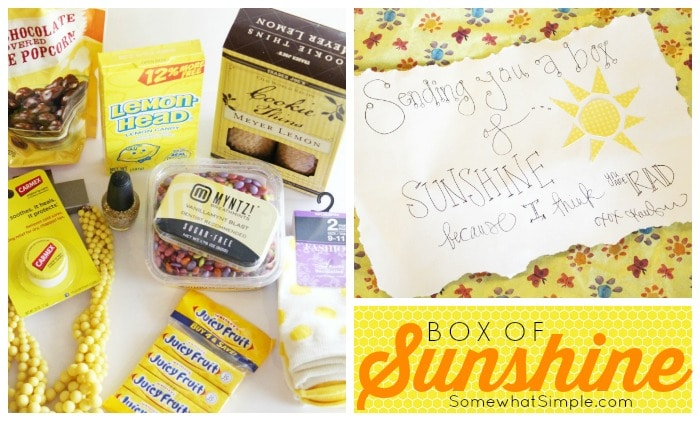 picture about Basket of Sunshine Printable called Box Of Solar - A Considerate Present Thought Rather Basic