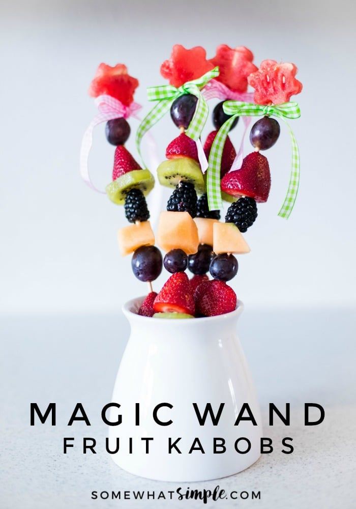 These Magic Wand Fruit Kabobs are fun, fresh and delicious!