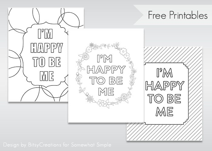 Happy to Be Me Free Printable 3