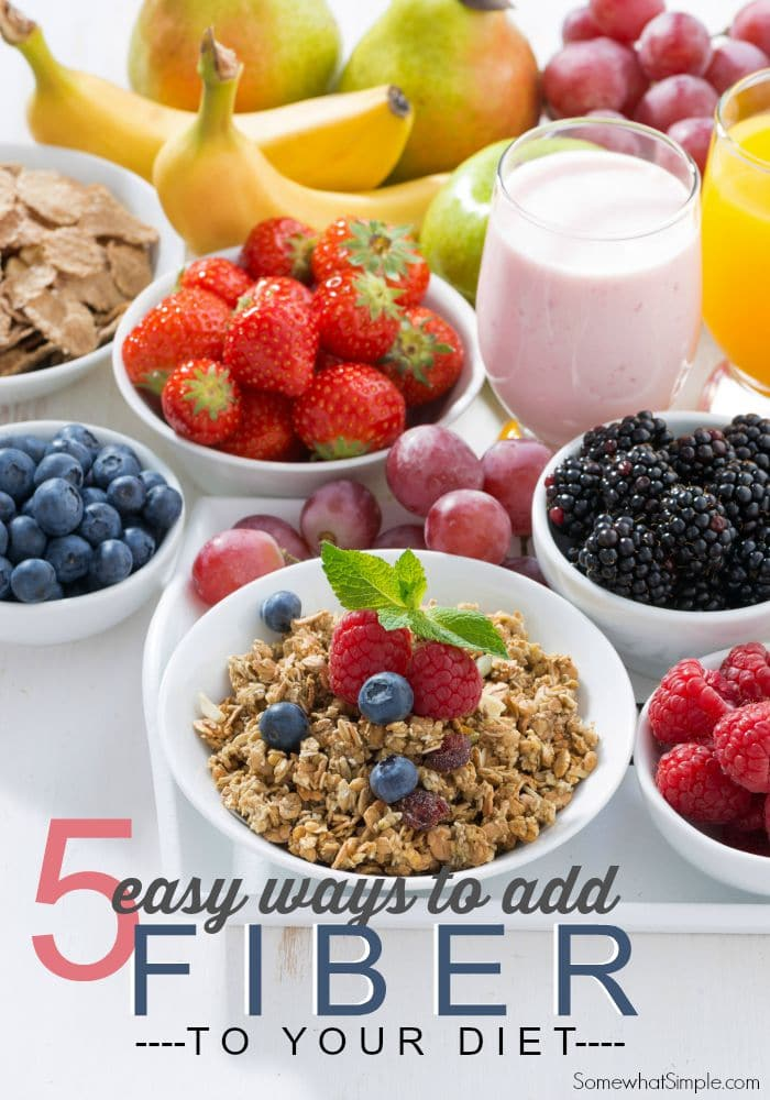 How to Add Fiber to Your Diet- Somewhat Simple