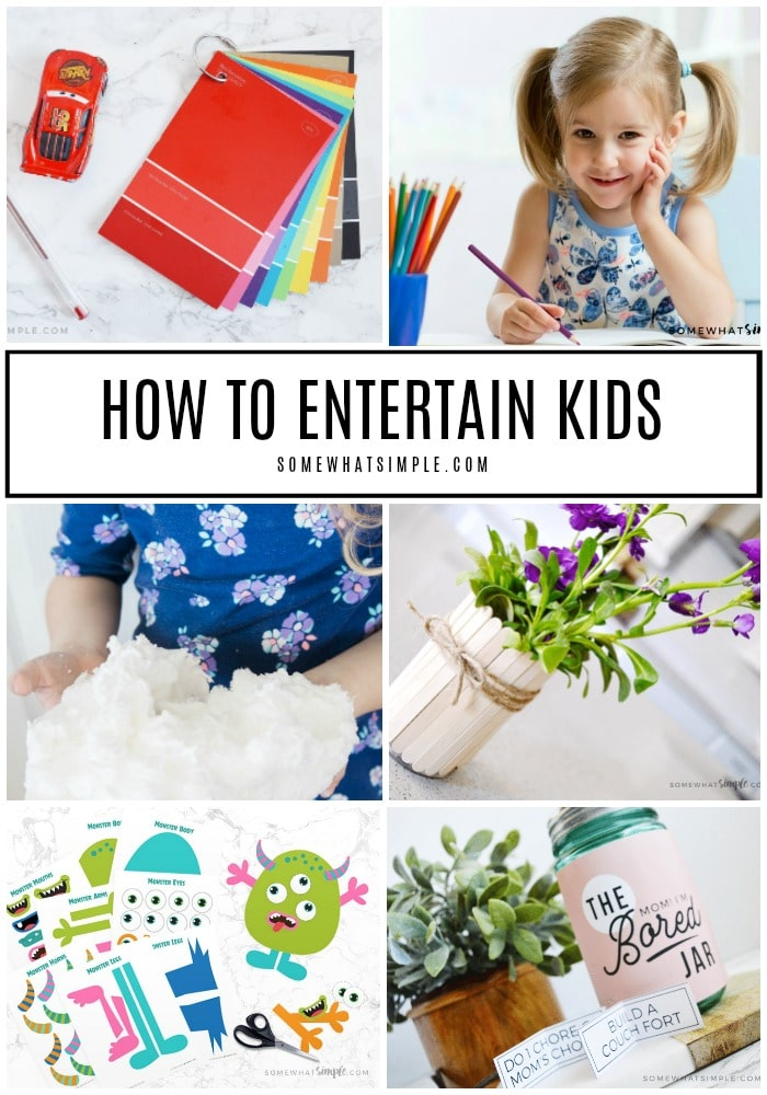 Put down the controllers and turn off the TV - it's time to do something fun... together! Here are 50 kids entertainment ideas that don't require any screen time! #activities #games #craftsforkids #summer #boredombusters