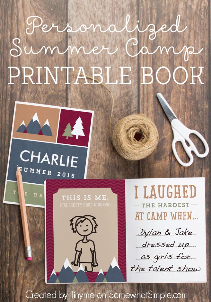 Our Adventure Book Cover Printable : Free summer camp printable journal somewhat simple