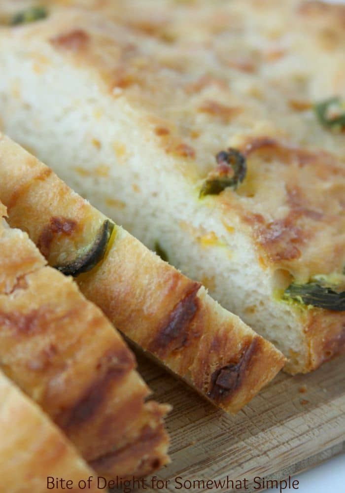 Cheddar Jalapeno french peasant Bread slices