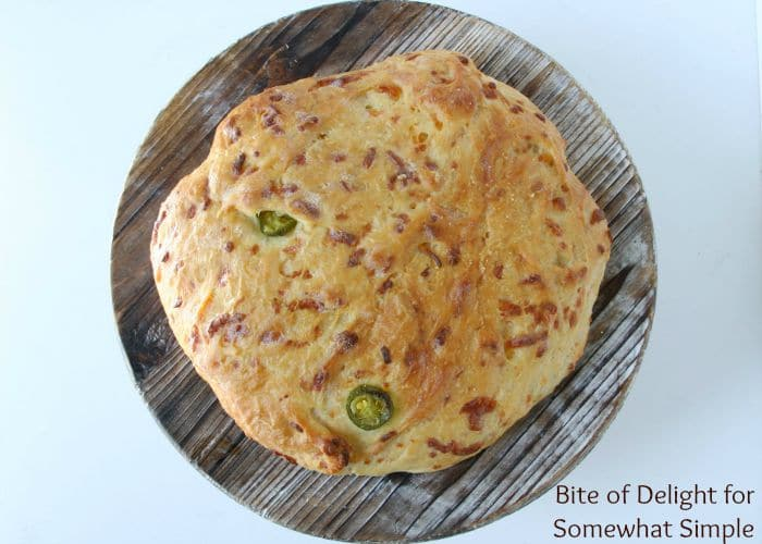 Cheddar Jalapeno french peasant Bread