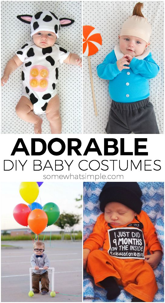 diy baby costumes  sc 1 st  Somewhat Simple & 10 DIY Baby Costumes for Halloween - Somewhat Simple