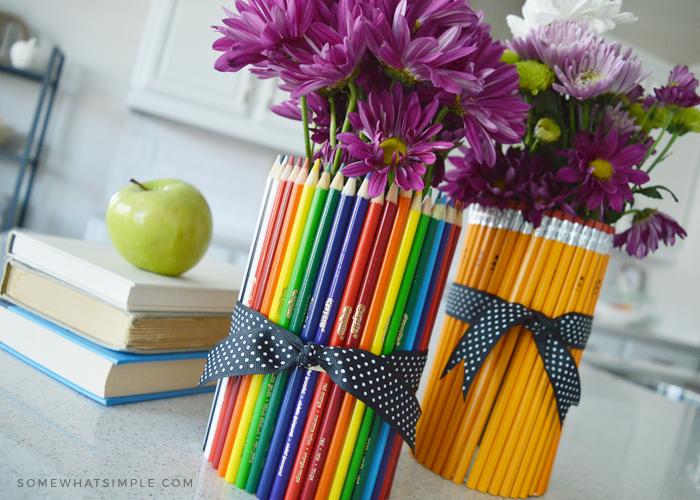 Back to School Gift Idea: DIY Pencil Vase