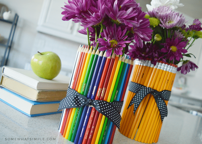Back To School Gift Idea Diy Pencil Vase Somewhat Simple