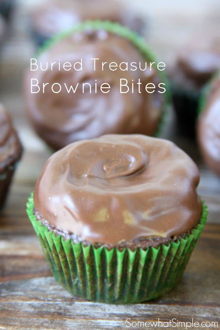 Buried Treasure Brownie Bites are so easy to make, and kids LOVE the hidden surprise inside!
