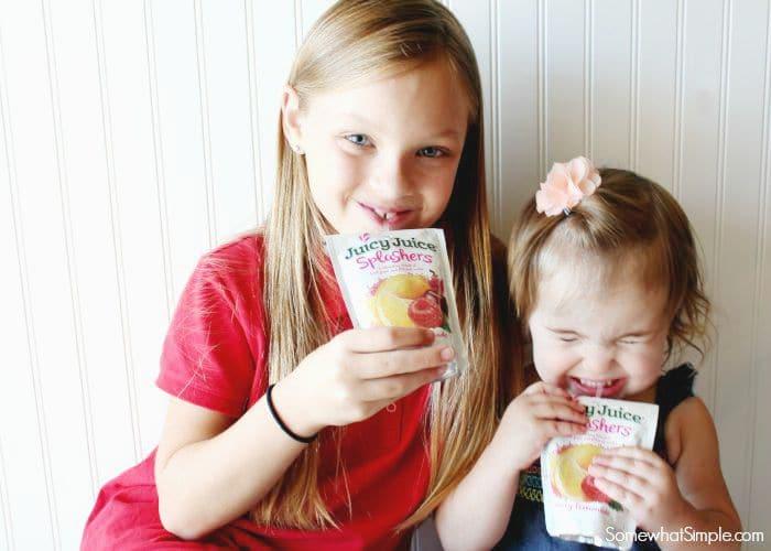 Easy Breakfast Ideas- Juicy Juice Splashers
