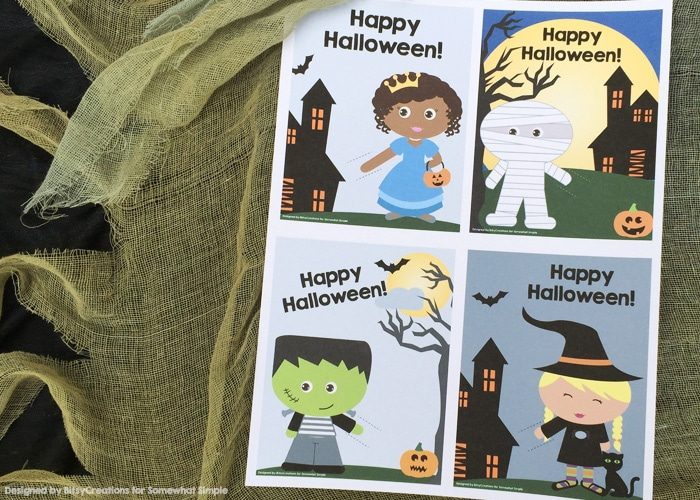 Halloween Printable Lollipop Cards