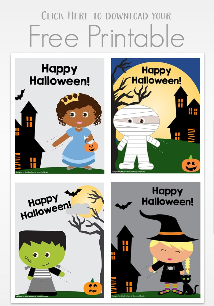 picture relating to Happy Halloween Cards Printable named Halloween Printable Lollipop Playing cards - Fairly Basic