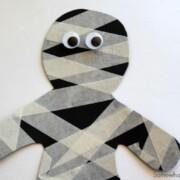 mummy made with masking tape