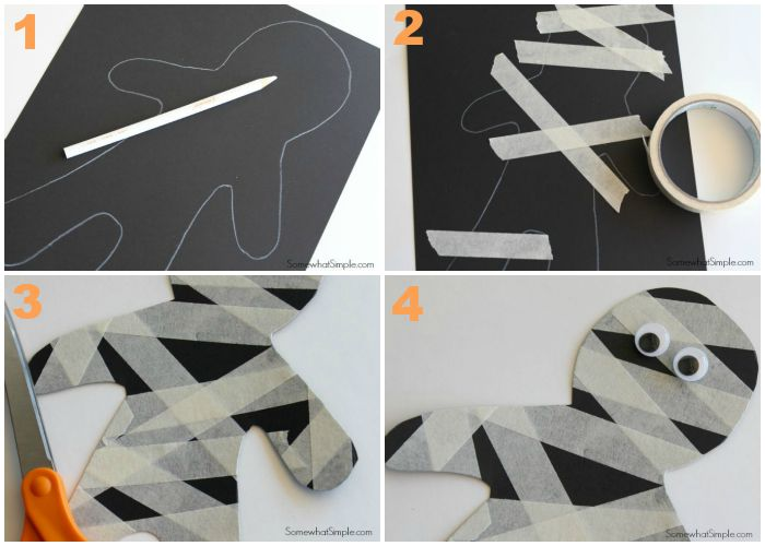 Masking Tape Mummies Tutorial