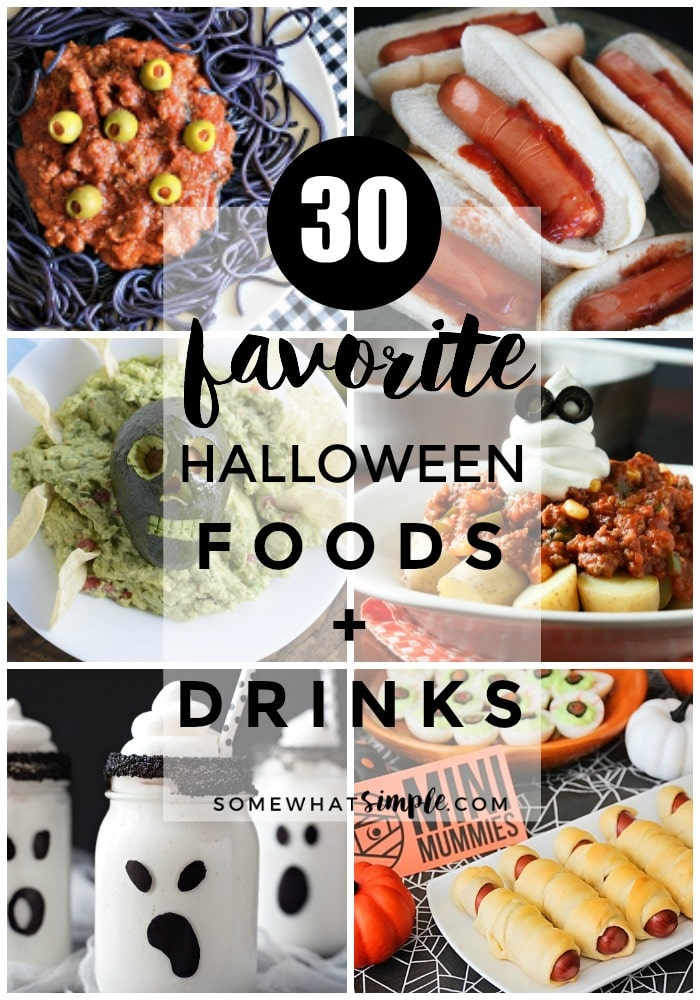 A little bit silly and slightly spooky - here are 30 of the most deliciously festive Halloween food and drink ideas!  via @somewhatsimple