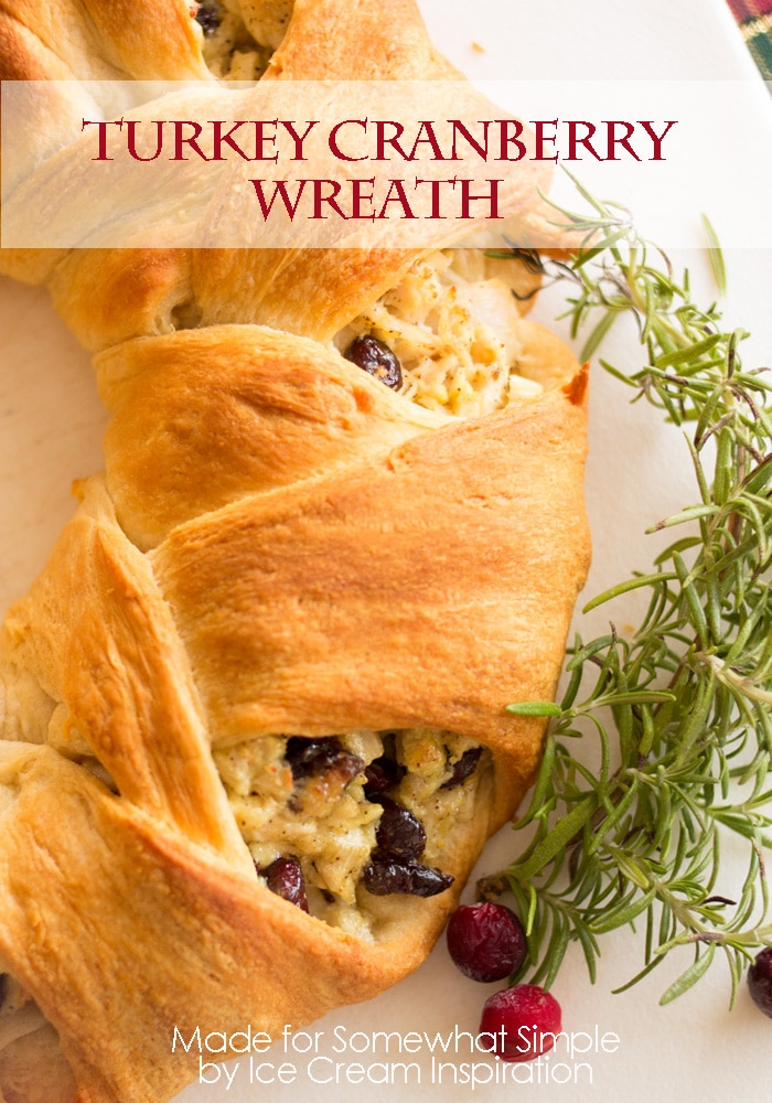 baked turkey cranberry croissant wreath