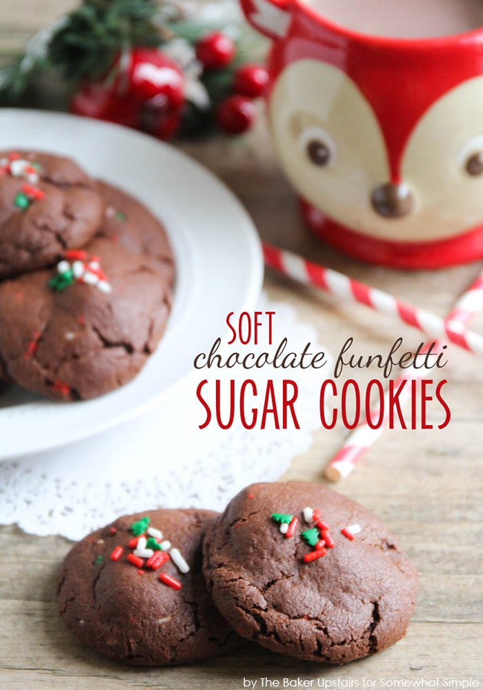 Easy Funfetti Chocolate Sugar Cookies Recipe