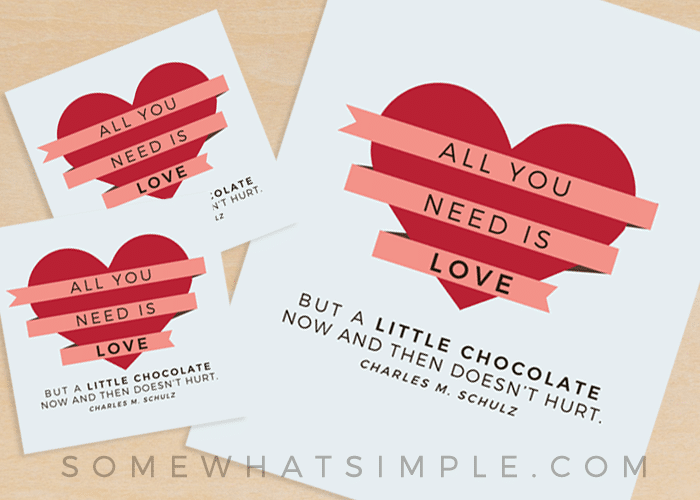 Free Chocolate Gift Tag Printable + A HUGE Giveaway!