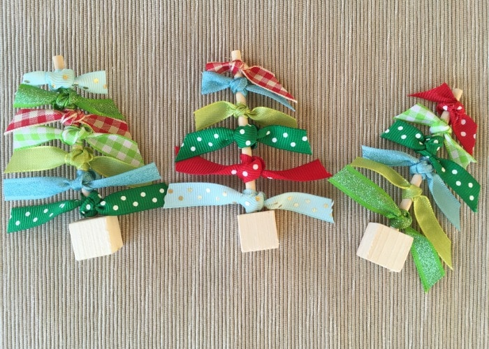 Easy Ribbon Christmas Tree Craft