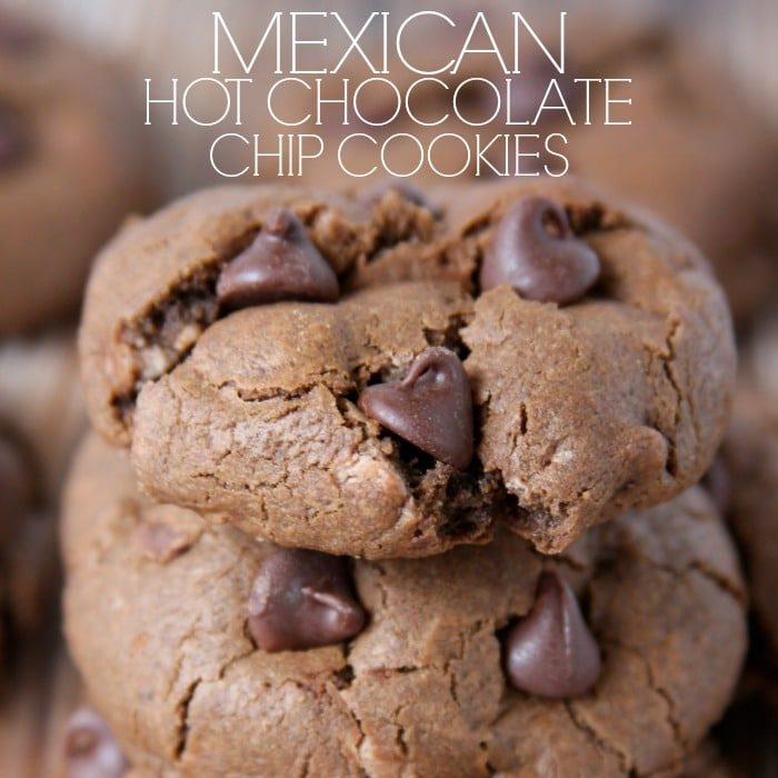 Mexican Hot Chocolate Chip Cookies...when you can't decide between a mug of spiced cocoa and a cookie, have both!
