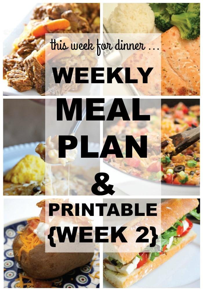 Weekly Dinner Menu - Week 2