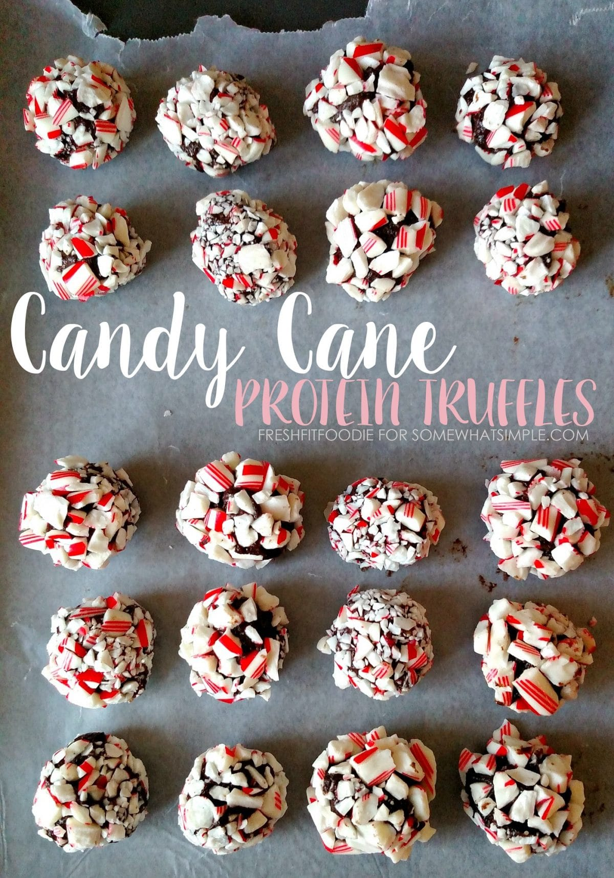 candy cane truffles