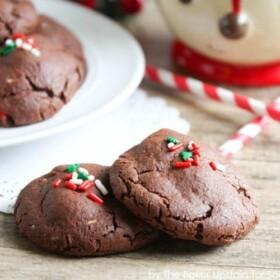 chocolate funfetti sugar cookies