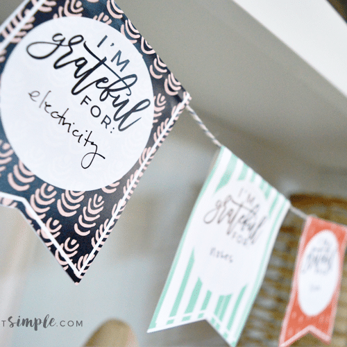 Thanksgiving Crafts - Gratitude Garland