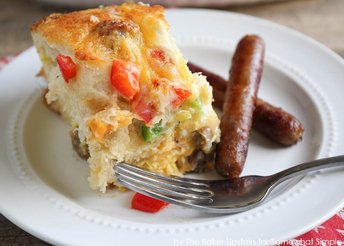 Sausage and Pepper Breakfast Biscuit Casserole