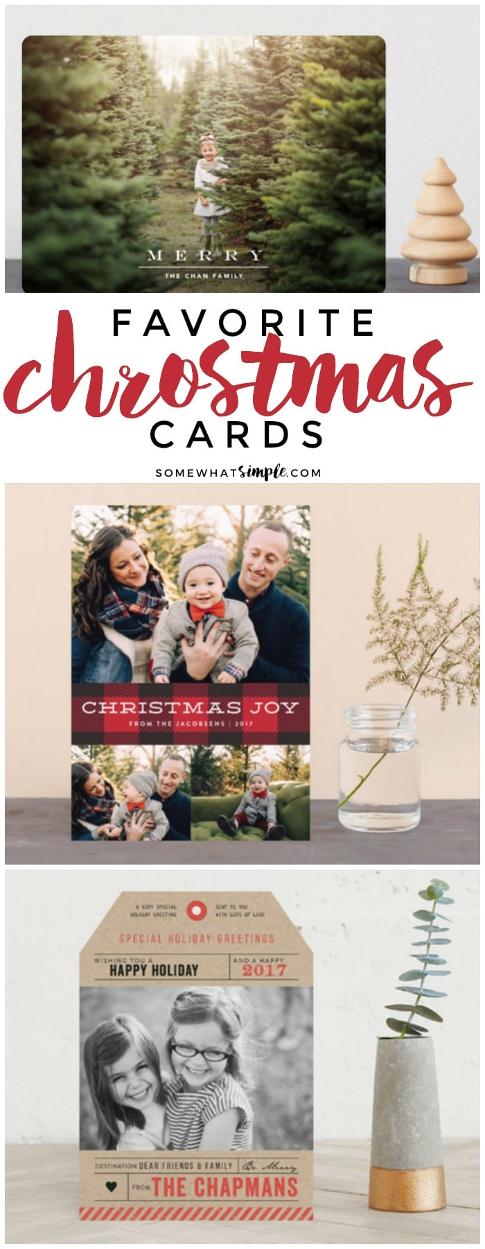 If you're in the market for your holiday cards, here are10 of my very favorite designs! Good luck picking just one! via @somewhatsimple