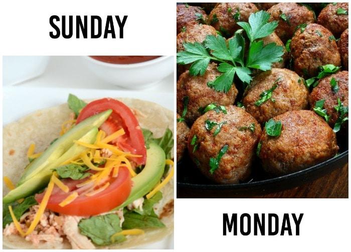 Dinner Menu Week 6-1