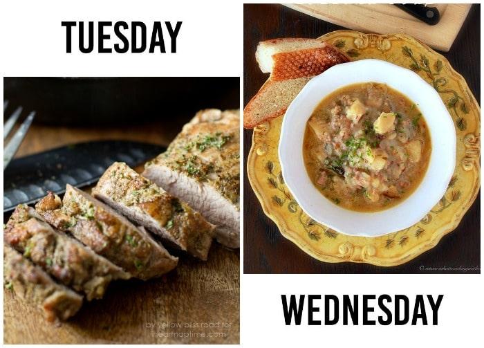 Dinner Menu Week 6-2