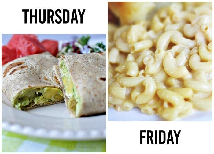 Dinner Menu Week 6-3