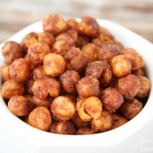 a bowl of Sriracha Roasted Chickpeas