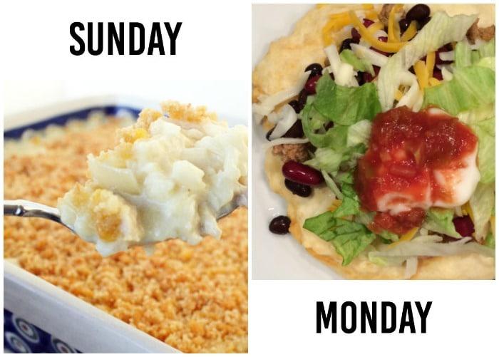 weekly dinner menu week 7-1