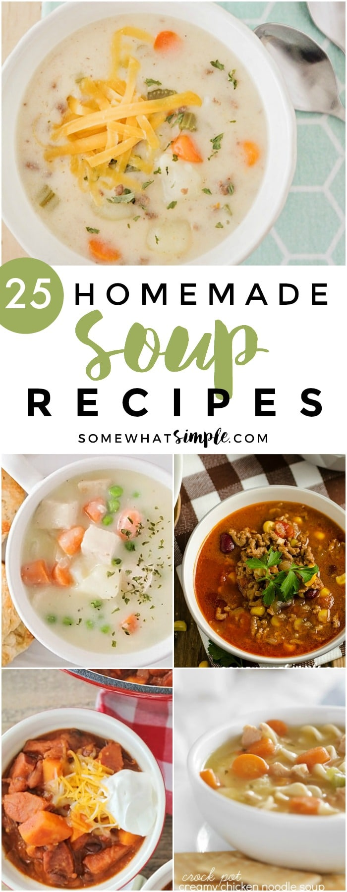 Outside temperatures are dropping and its time to cuddle up inside with a blanket and some delicious food! These 25 homemade soup recipes are the ultimate comfort food and just might be what the doctor ordered!