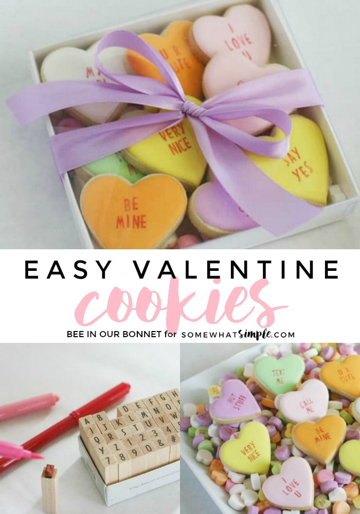 Conversation Hearts - EASY Valentines Day Cookies