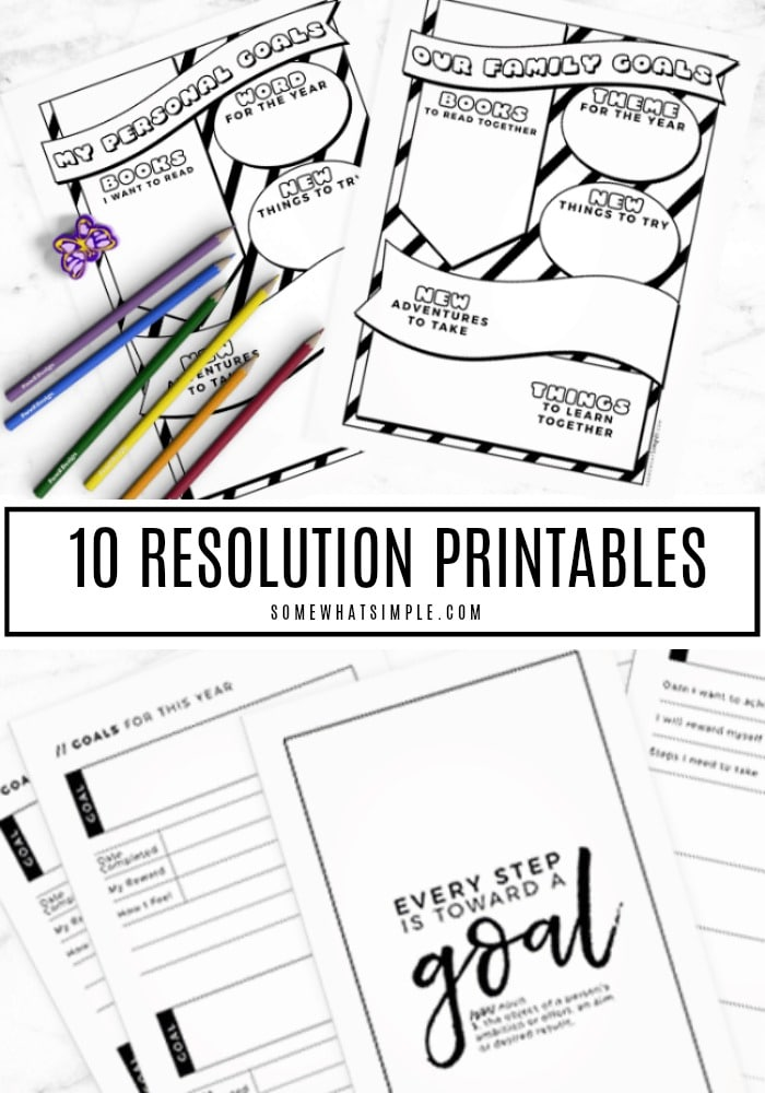 Ring in the New Year with 10 of our favorite New Years Resolution Printables!