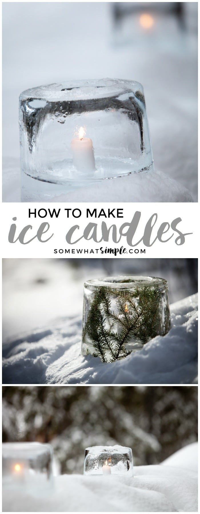 These ice candles will transform your walkway into a winter wonderland!