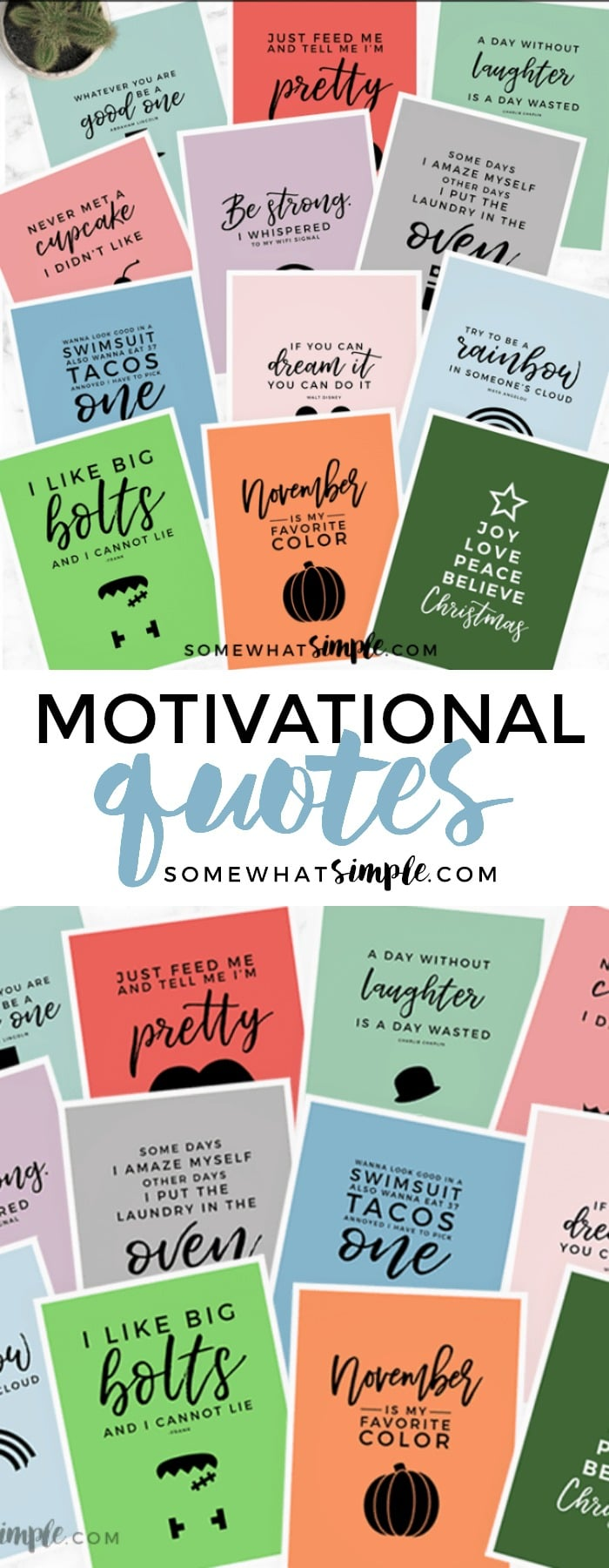 Get through a brand new week with our Monday Motivational Quotes + Minimalist Printable Pack!