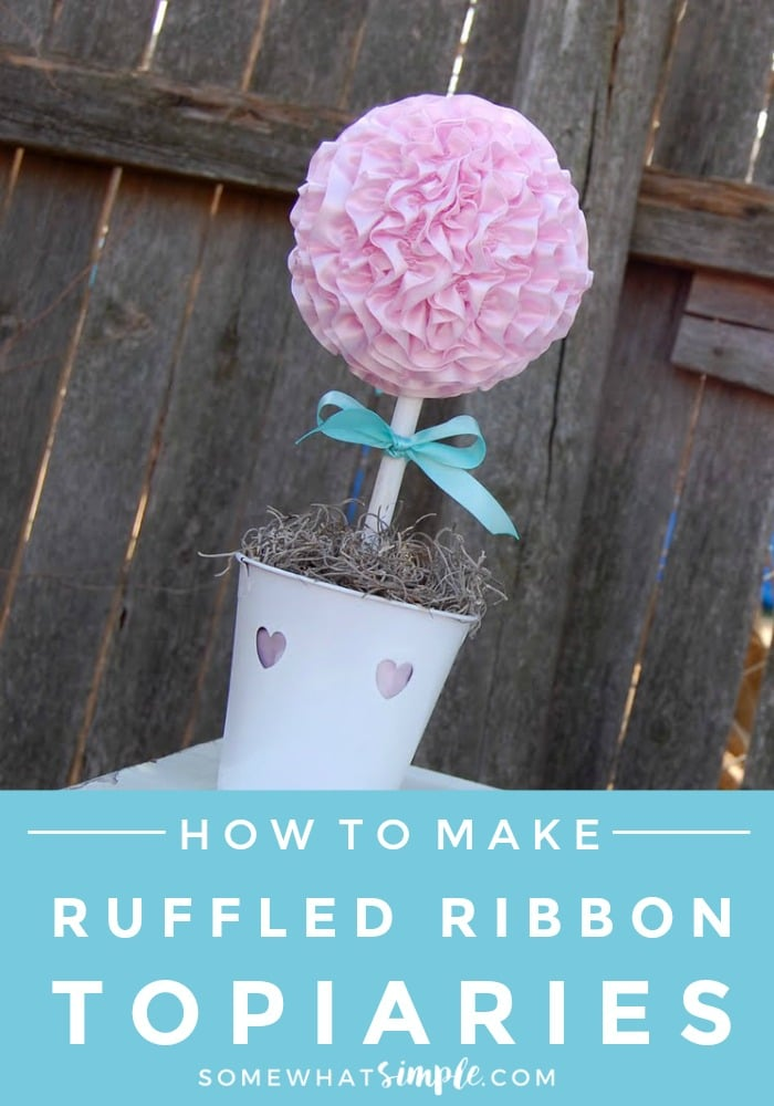 Ruffled Ribbon Topiary Tutorial