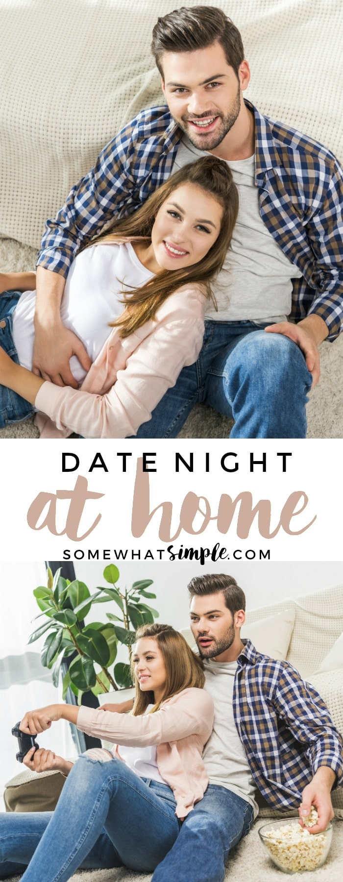 Planning a date night at home is a great way to have some casual fun with your sweetheart! via @somewhatsimple