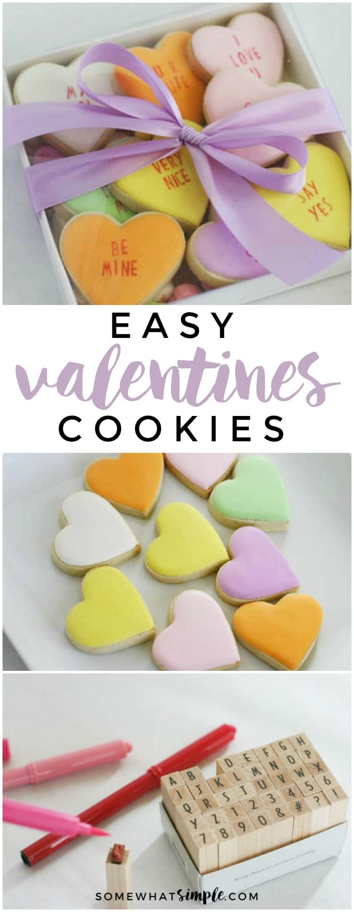 Conversation Hearts Valentines Day cookies are super simple to make and they taste delicious!!