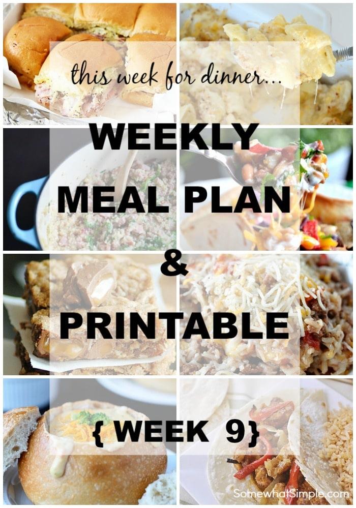 Weekly Menu - 9
