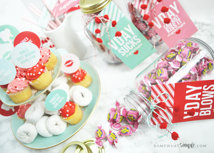 Galentine's Day Party Printables + Gift Ideas #CupidIsStupid