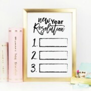 New Years Resolution Printable Art to Frame
